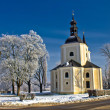 Catholic church in town of Krizevci - Stock Photo