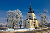 Catholic church in town of Krizevci — Stock Photo