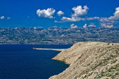 Velebit mountain from Island of Pag — Stock Photo
