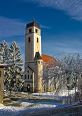 Church of holy cross in Krizevci — Stock Photo