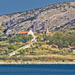 Island of Pag coast monastery — Stock Photo