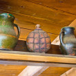 Two jugs and copper canteen — Stock Photo