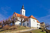 Varazdinske toplice - church on hill — Stock Photo