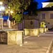 Five wells square in Zadar - Stock fotografie