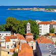 City of Zadar aerial view — Foto de Stock