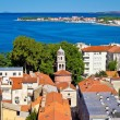 City of Zadar aerial view — Stock fotografie
