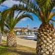 Dalmatian town of Pakostane waterfront — Stock Photo