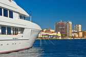 Luxury yacht in Zadar waterfront — Stock Photo