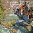 Village of Rastoke on river cascade - Stock Photo