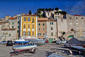 Old mediterranean style houses in Sibenik — Stock Photo