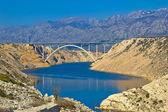 A1 Highway bridge under Velebit Mountain — Stock Photo