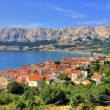 Town of Baska nature and architecture — Foto Stock