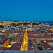 zadar rooftops night aerial view — Stock Photo