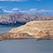 Stone desert Island of Pag — Stock Photo