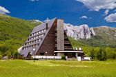 Velebit mountain lodge in Springtime — Stock Photo