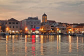 Vodice waterfront golden evening view — Stock Photo