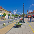 Town of Daruvar center promenade — Stock Photo