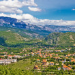 Town of Knin and Dinara mountain — Stock Photo