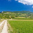 Amazing green mountain scenery in Croatia — Stock Photo
