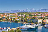 City of Zadar harbor and Velebit mountain — Stock Photo
