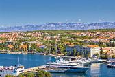 City of Zadar harbor and Velebit mountain — Stock Photo