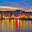 colorful evening in town of vodice — Stock Photo