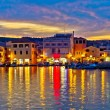 Colorful evening in Town of Vodice — Foto Stock