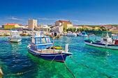 Adriatic Town of Razanac colorful waterfront — Stock Photo