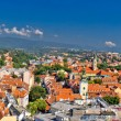 Historic city of Zagreb panoramic — Stock Photo