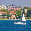 Sailing  in city of Zadar waterfront — Stock Photo