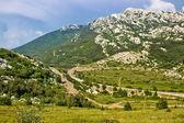 Velebit mountain Prezid pass green landscape — Stock Photo