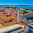 Zadar rooftops aerial city view — Stock Photo