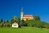 Zagreb green zone idyllic church — Stock Photo