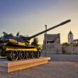 Military tank installation in Zadar — Stock Photo #32613527