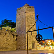 Zadar stone tower night view — Foto Stock