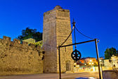 Zadar stone tower night view — Stock Photo