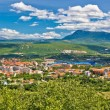 Dinara mountain and town of Knin — Stock Photo