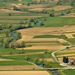 River of Bednja valley aerial — Stock Photo