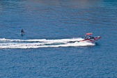 Sit down hydrofoil ski sport — Stock Photo