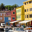 Town of Veli losinj colorful waterfront — Stock Photo