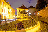 Zagreb stone gate sanctuary night view — Stock Photo