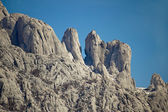 Stone sculptures of Velebit mountain — Stock Photo