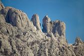 Stone sculptures of Velebit mountain — Stock Photo