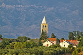Dalmatian village of Zaton and Velebit — Stock Photo