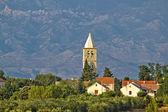 Dalmatian village of Zaton and Velebit — Stock Photo