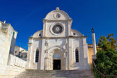 Cathedral of St James in Sibenik facade — Stock Photo