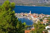 Adriatic town of Vinjerac aerial view — Zdjęcie stockowe
