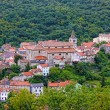 Historic town of Bakar in green forest — Stock Photo