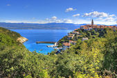 Town of Vrbnik green landscape — Stock Photo
