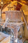 Old traditional watermill interior view — Stock Photo